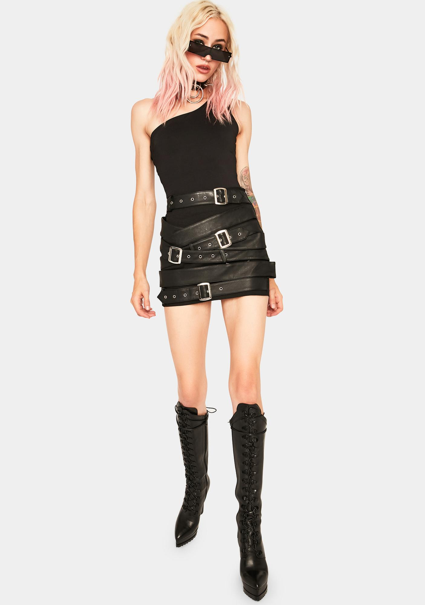 SNDYS. THE LABEL Annie Asymmetrical Bodysuit