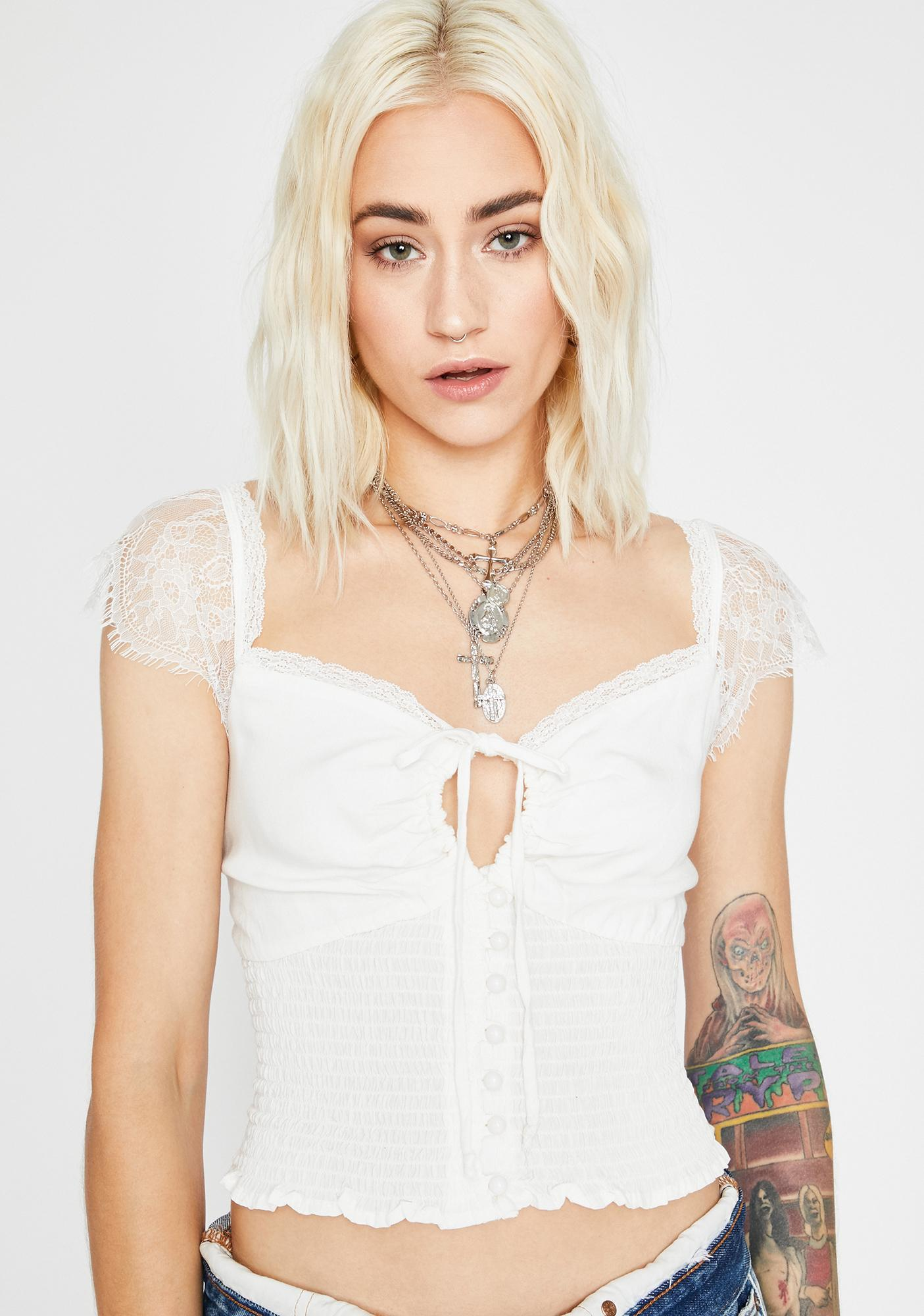 Heart Thief Ruched Top