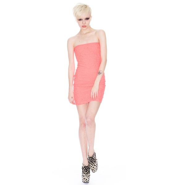 Neon Elastic Mini Dress