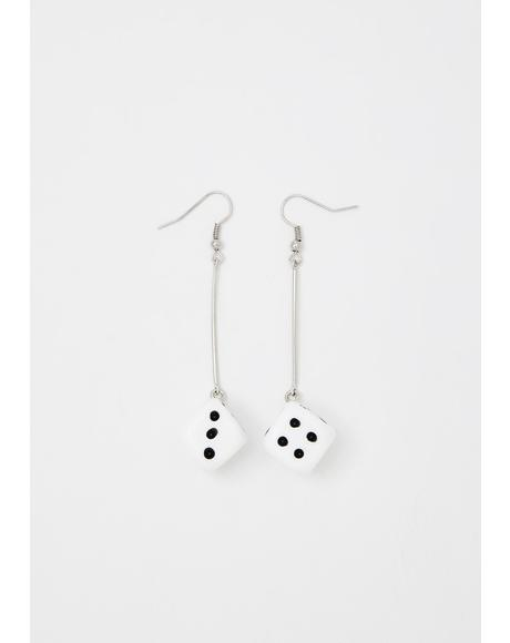 Lucky Roller Dice Earrings