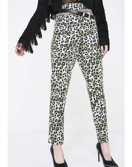 Vintage 90s Leopard Mom Jeans