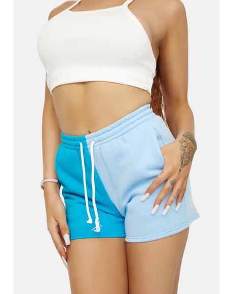 Blueberry Winning Point Sweat Shorts