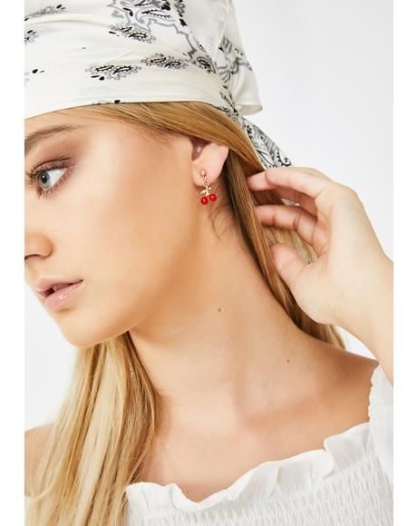 Pop It Cherry Earrings