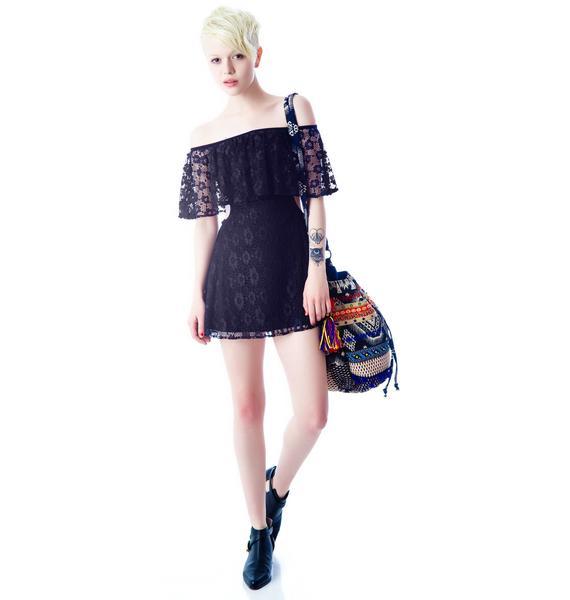 For Love & Lemons Tender Heart Lace Cutout Dress