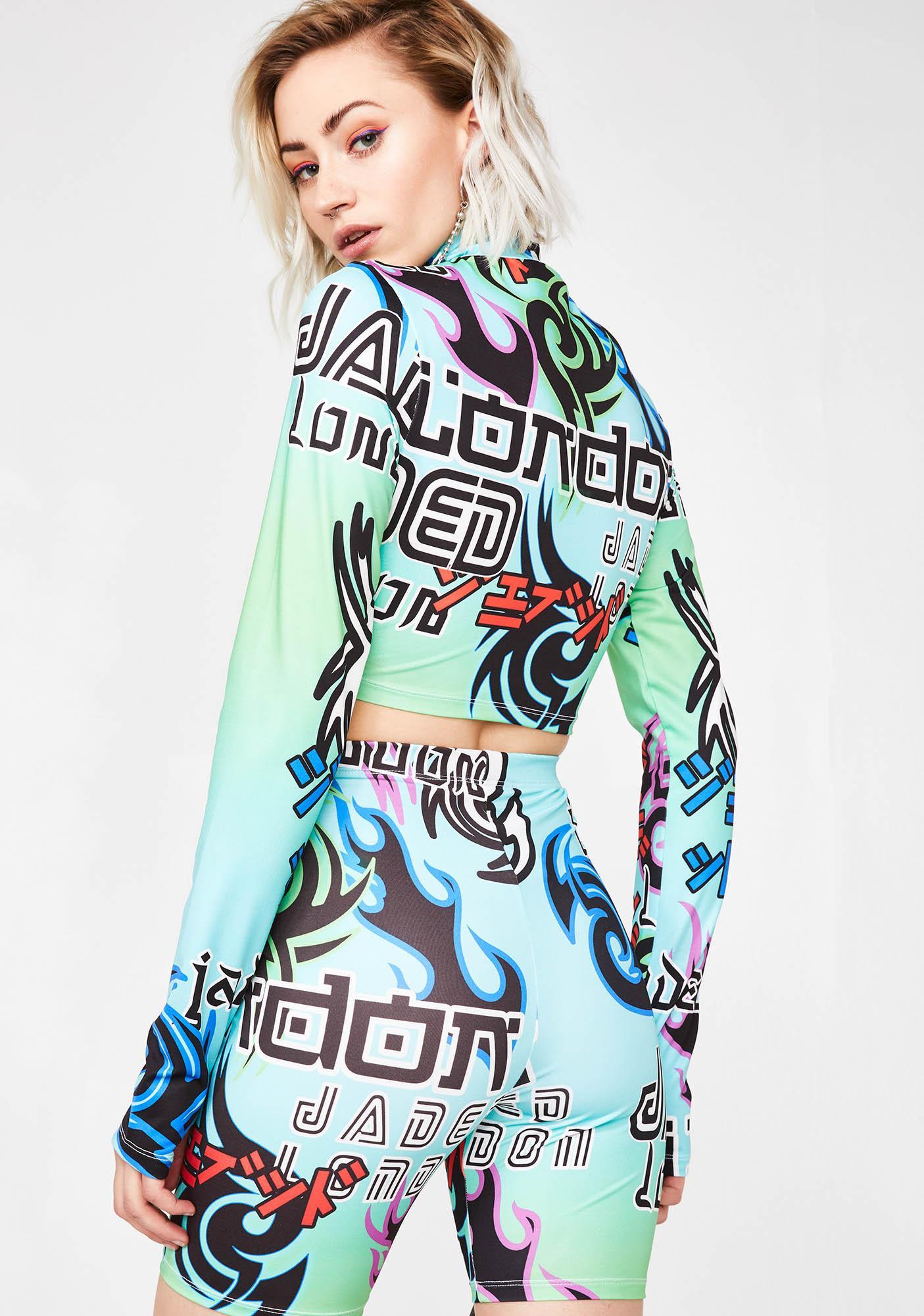 Jaded London Multicolored Tribal Print Cycling Shorts