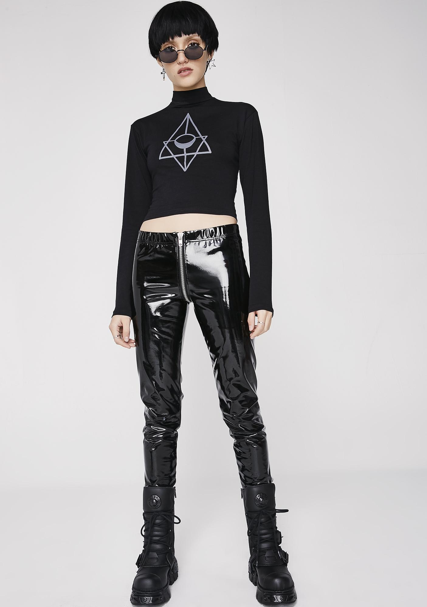 d7745295217 Rogue + Wolf Order Of The Moon Crop Top | Dolls Kill