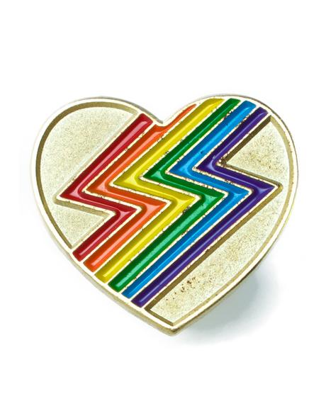 Rainbolt Heart Pin