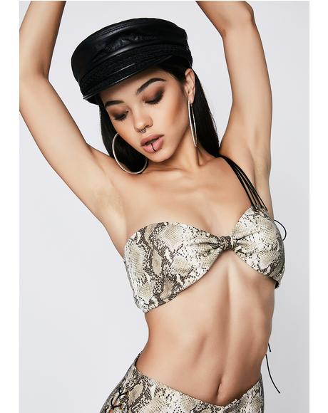 Deadly Bite Snake Bra