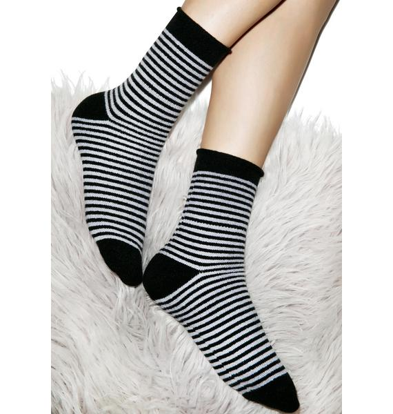 Plush Jail Break Fleece Socks