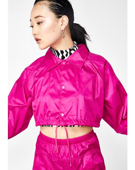 Fuschia Storm Warning Cropped Jacket