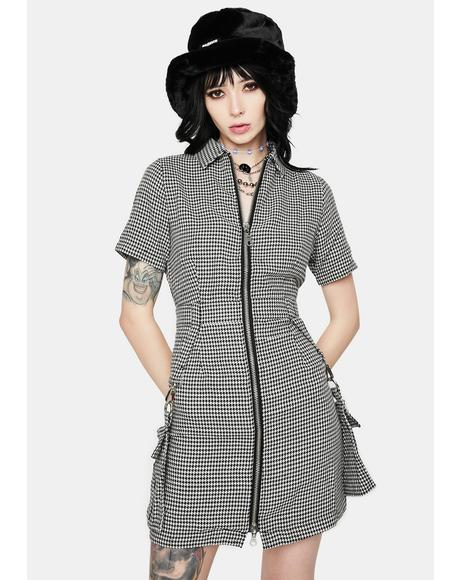 Formation Houndstooth Dress