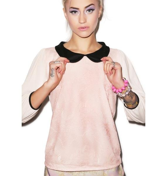 Keep Me Collared Long Sleeve Top