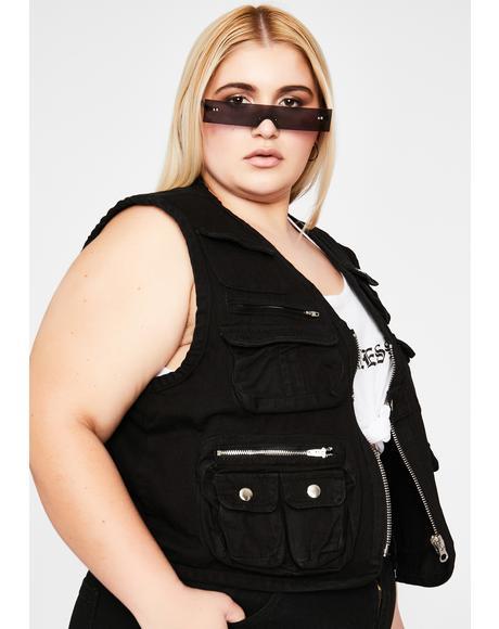 Duh Bish I'm Ready Cargo Vest