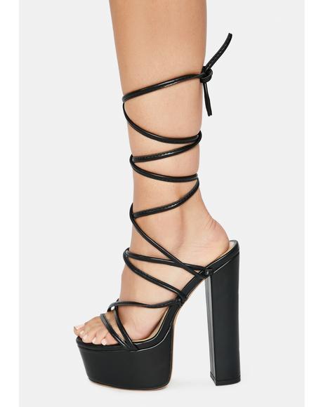 Chello Wrap Platform Heels
