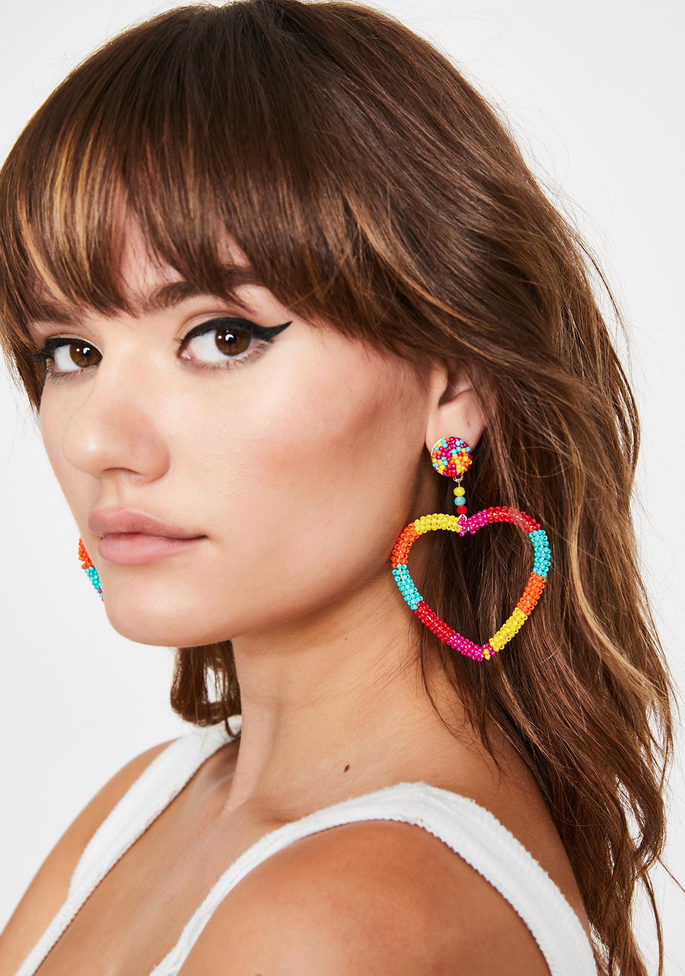 Luv Candy Beaded Earrings