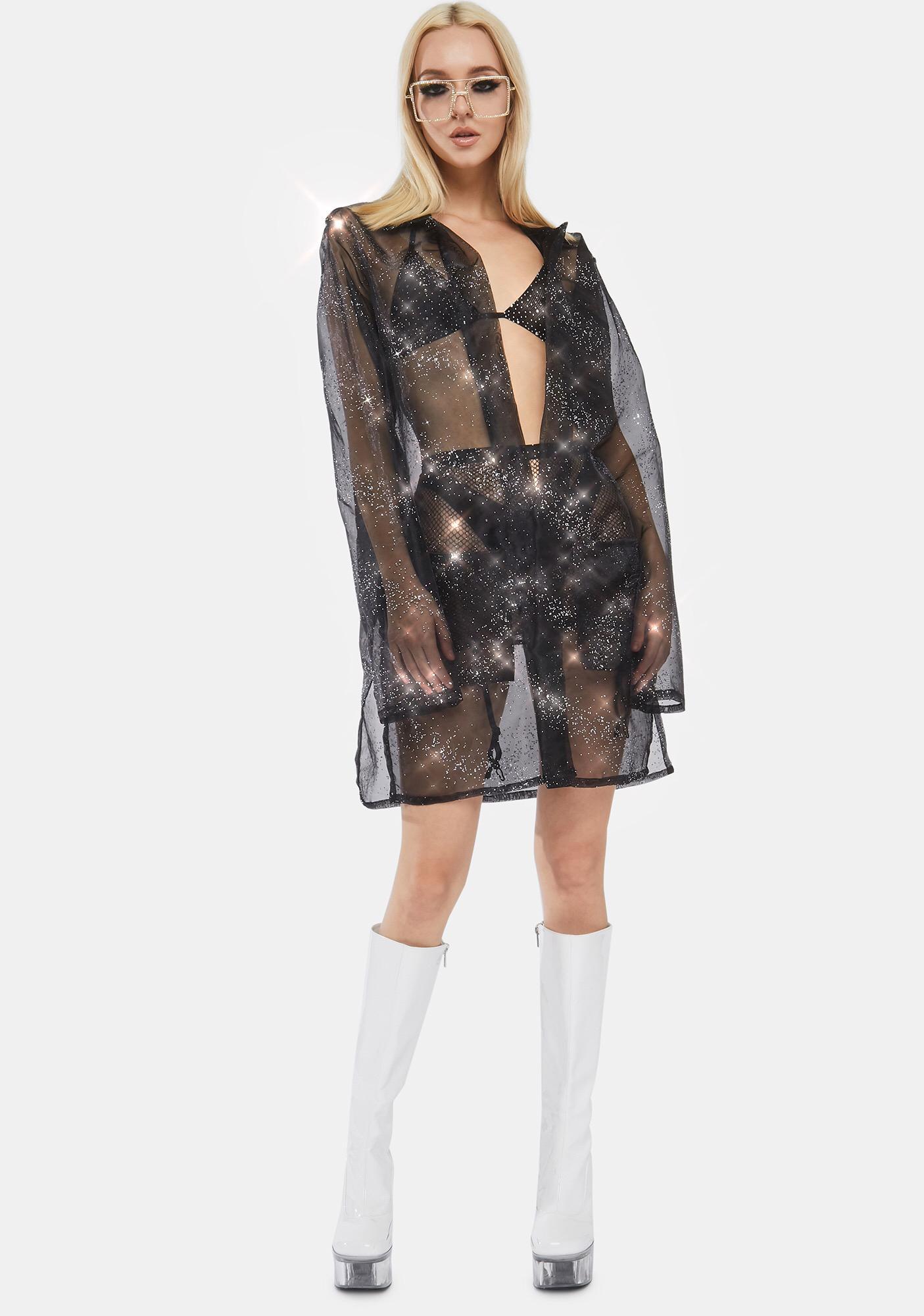 ESQAPE Crystal Organza Robe
