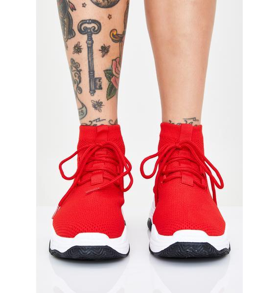 Cherry Sly Walker Sock Sneakers