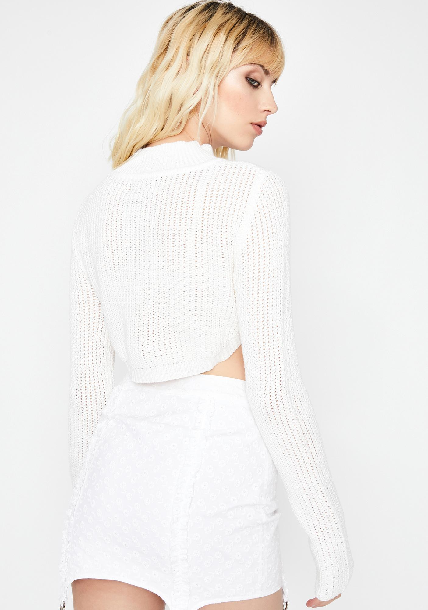 Frosty Close To The Edge Cropped Sweater