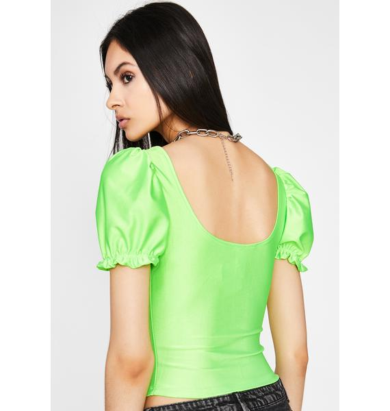 Not Your Toy Corset Blouse