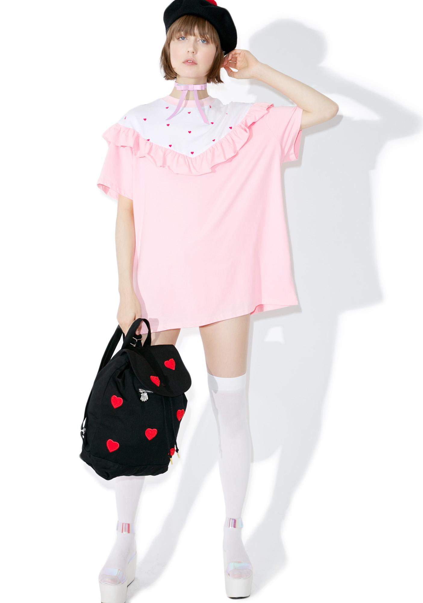 Lazy Oaf Frilly Hearts Tee