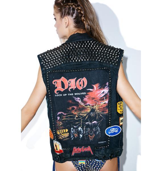 Hazmat Design Vintage Deadstock Lock Up The Wolves Vest
