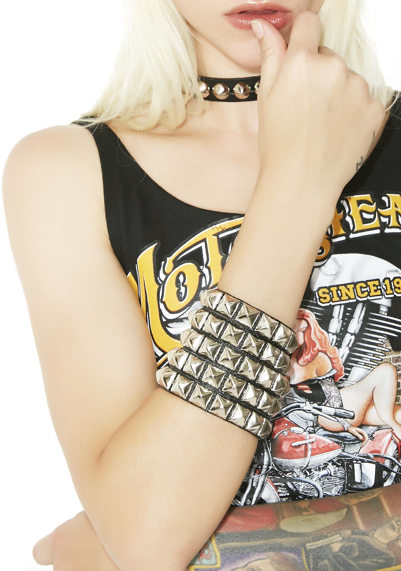 Start Me Up Studded Cuff Bracelet