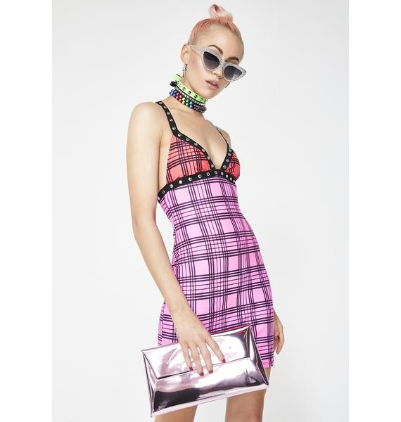 Jaded London Plunge Stud Strap Bodycon Dress