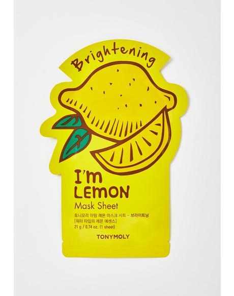 Lemon I'm Real Sheet Mask