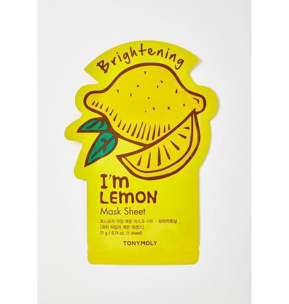 TONYMOLY Lemon I'm Real Sheet Mask