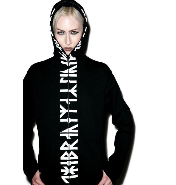 Long Clothing Runic Zip Up Hoodie
