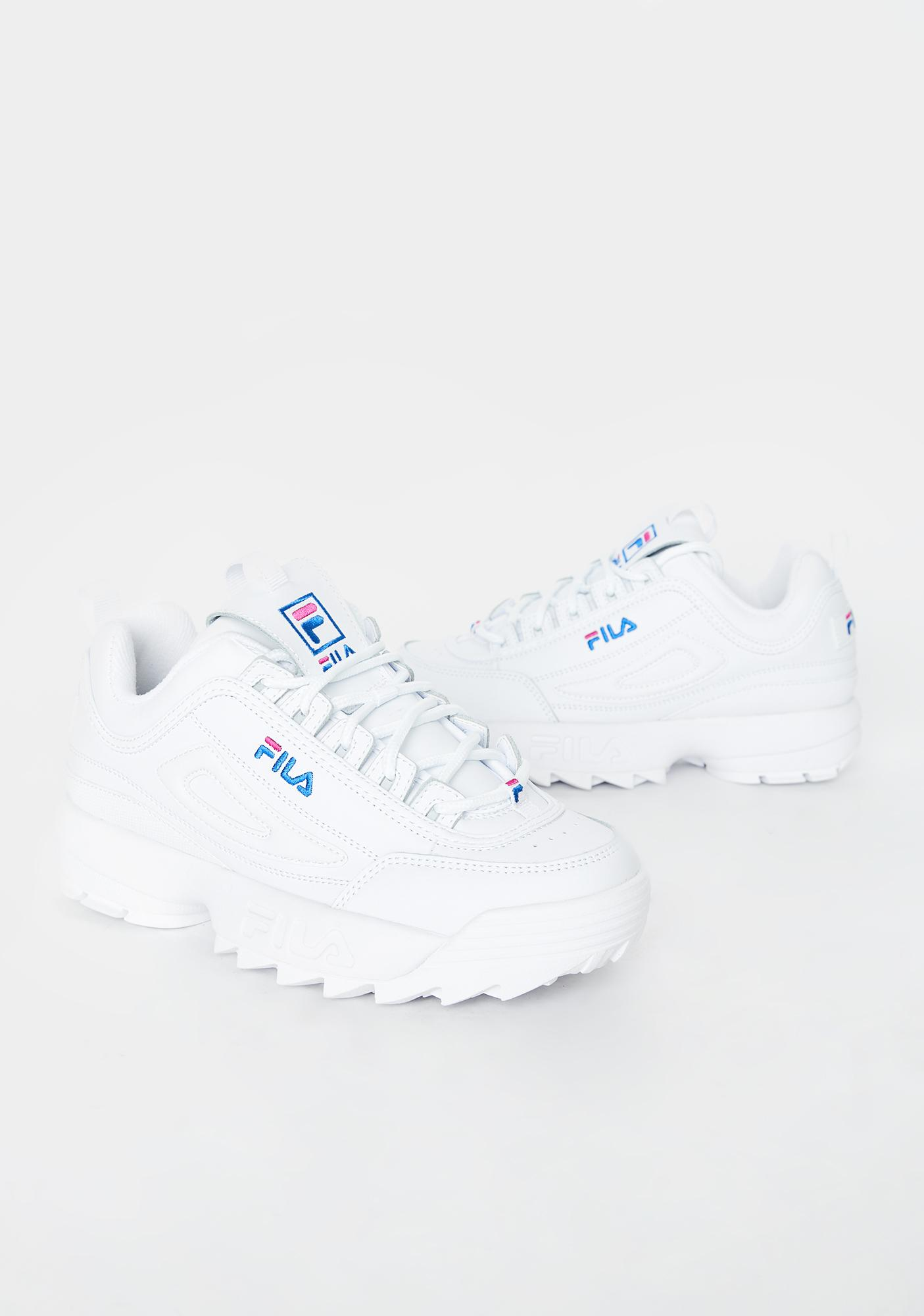 Fila Light Blue Logo Disruptor 2 Premium Sneakers
