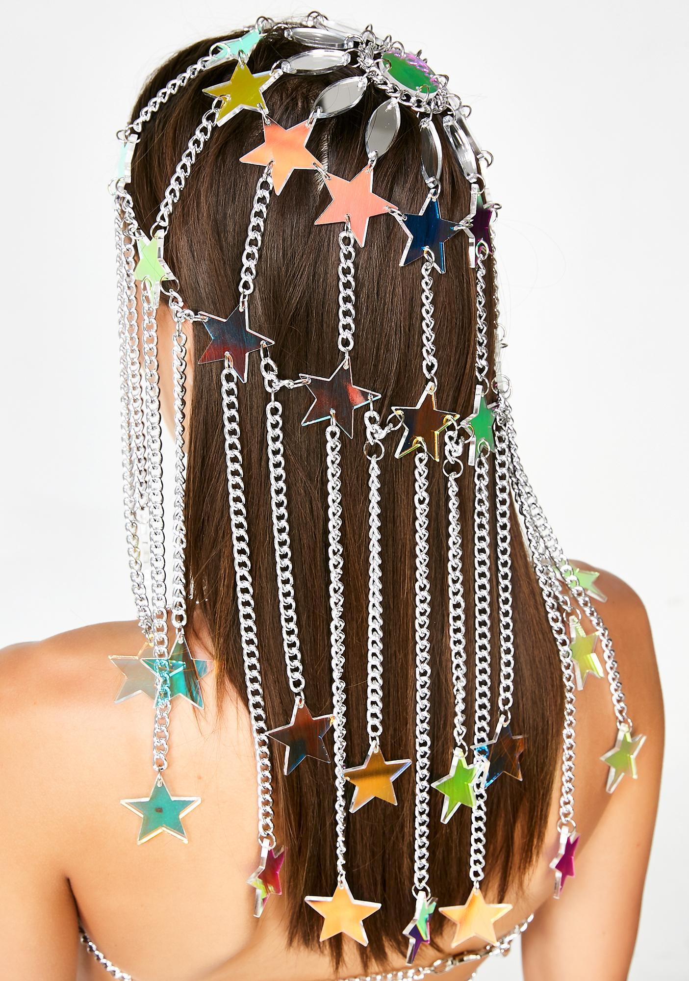 Claudia Pink Jewellry Iridescent Star Headpiece