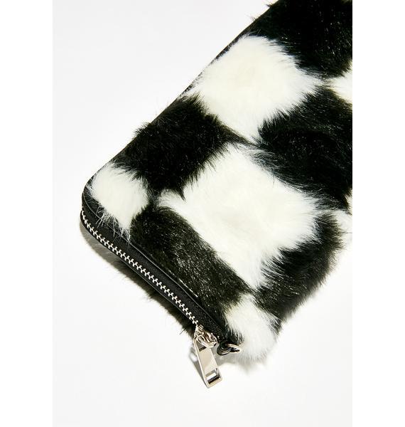 Current Mood Double Check Faux Fur Wallet