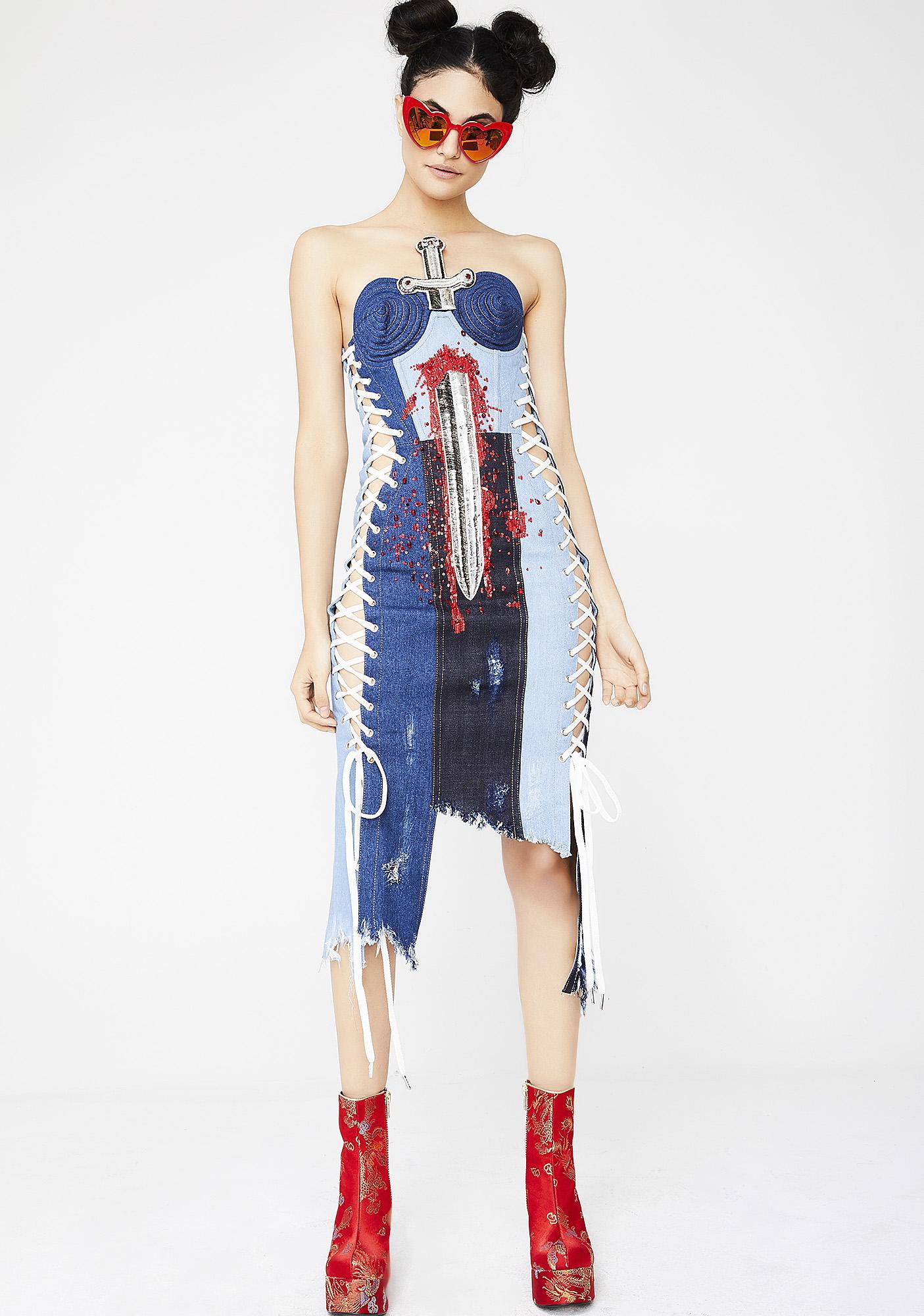Namilia Denim Sword Dress