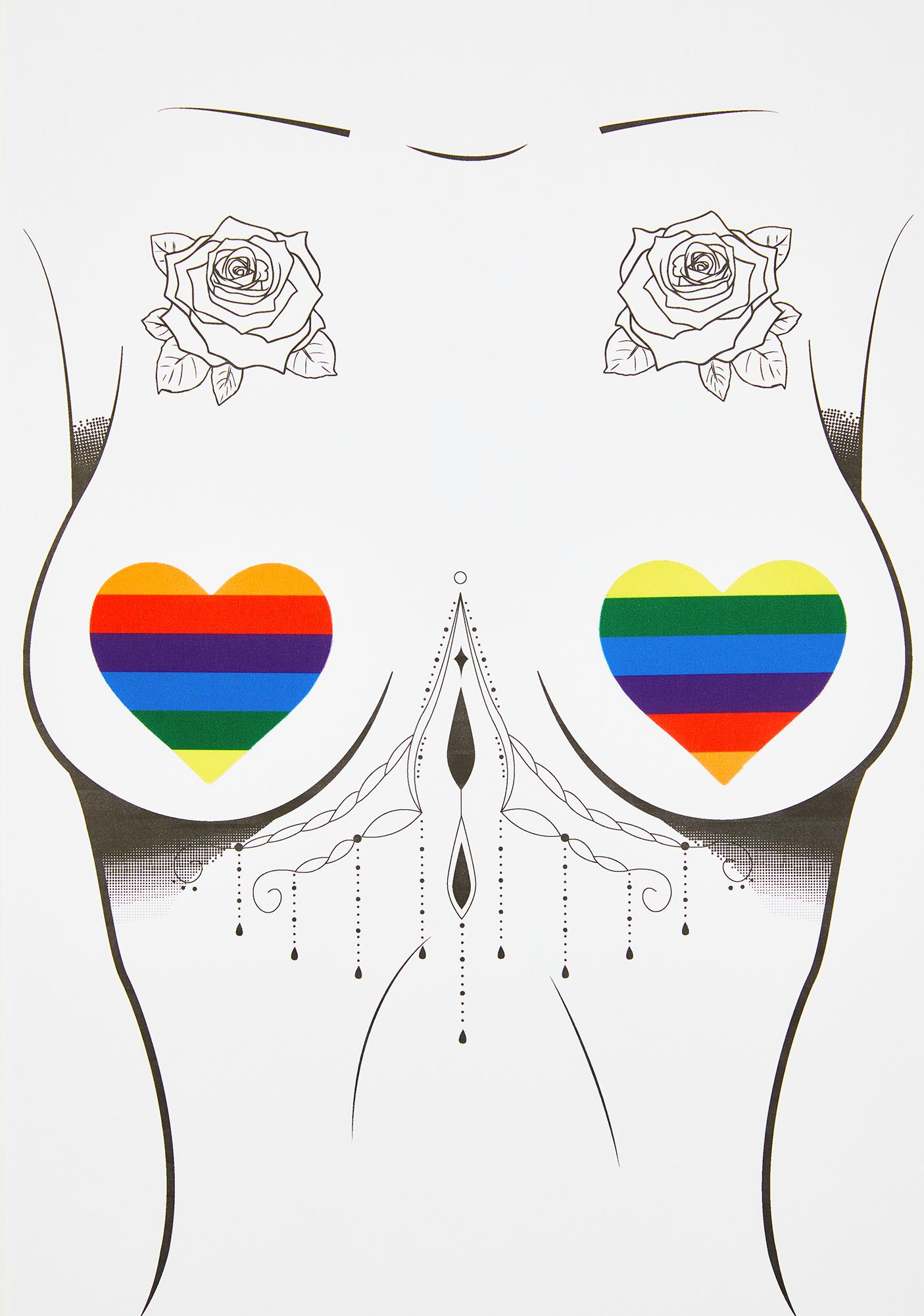 Neva Nude Rainbow Hearts Pasties