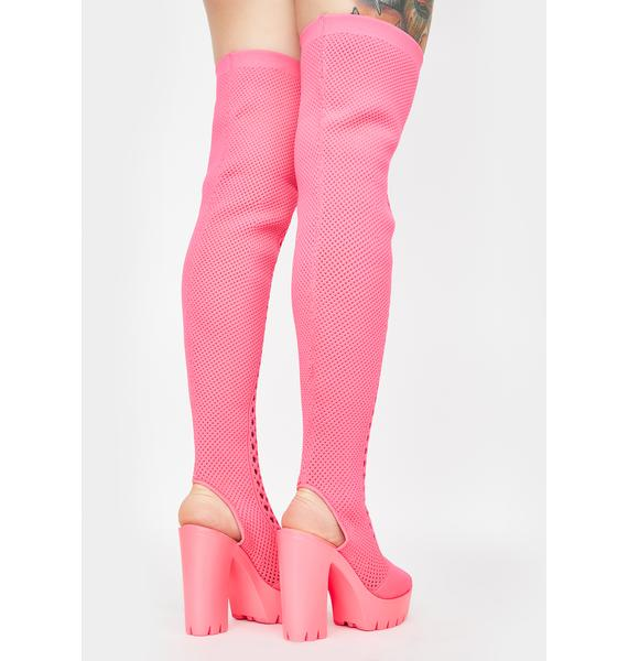 Cosmo Straight No Chaser Fishnet Boots