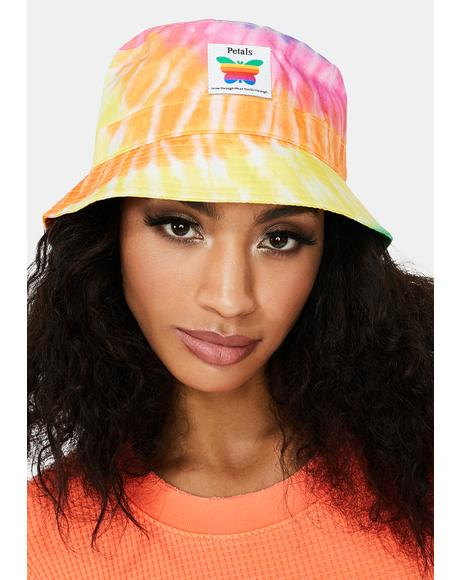 Think Growth Tie Dye Bucket Hat