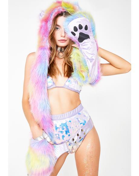 Trippin' Kitten Fuzzy Hood