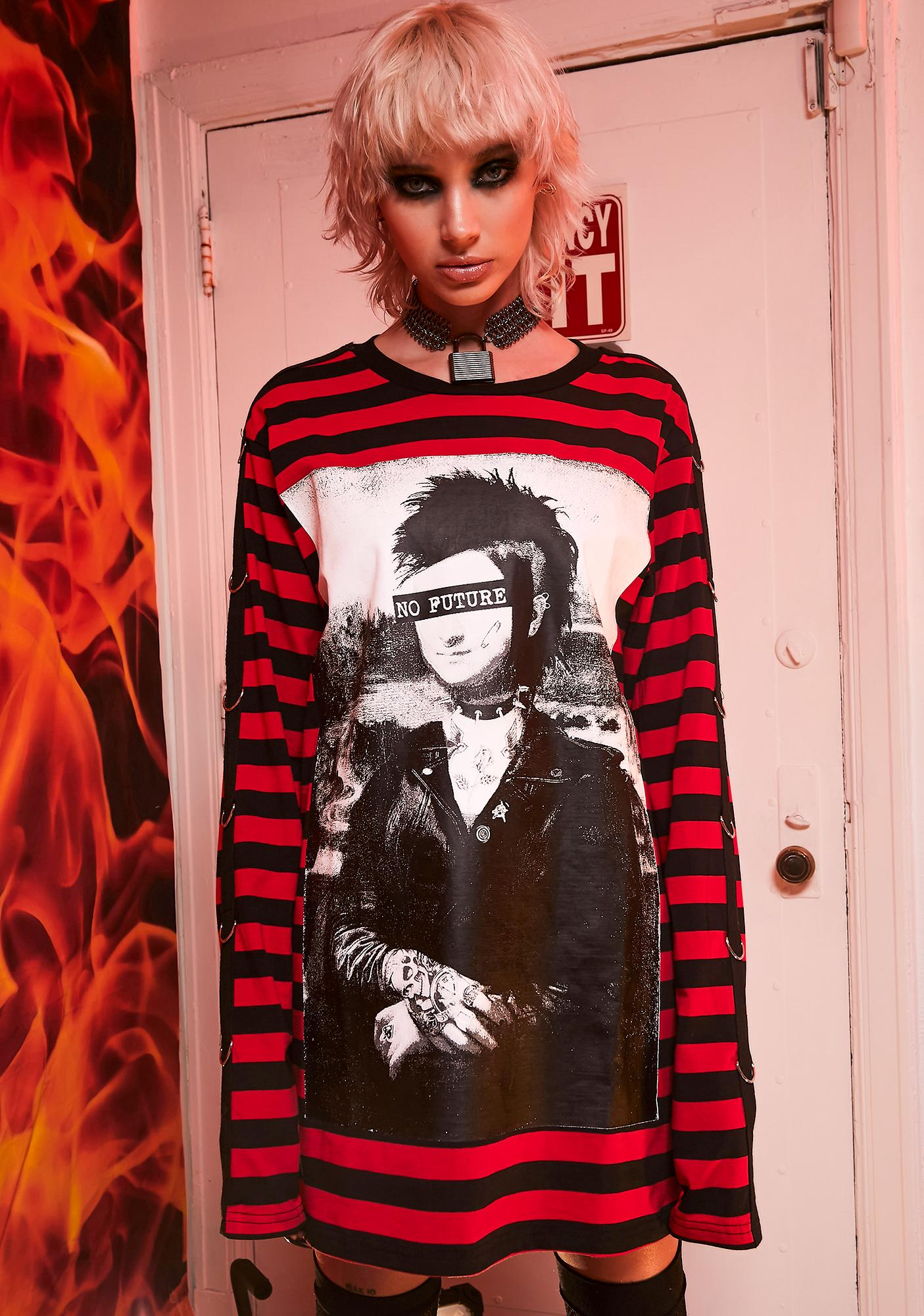Current Mood Wasted Youth Striped Tee