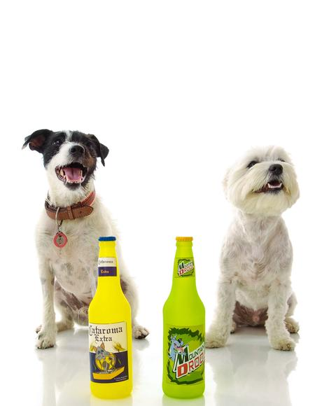Cataroma Beer Bottle Squeeker Dog Toy