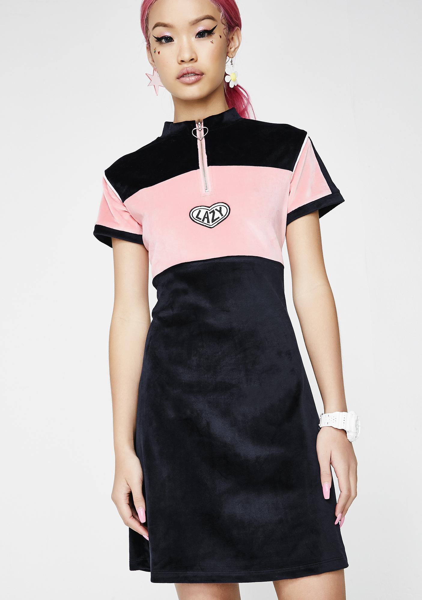 ecd1da88634 Lazy Oaf Lazy Sports Velour Dress