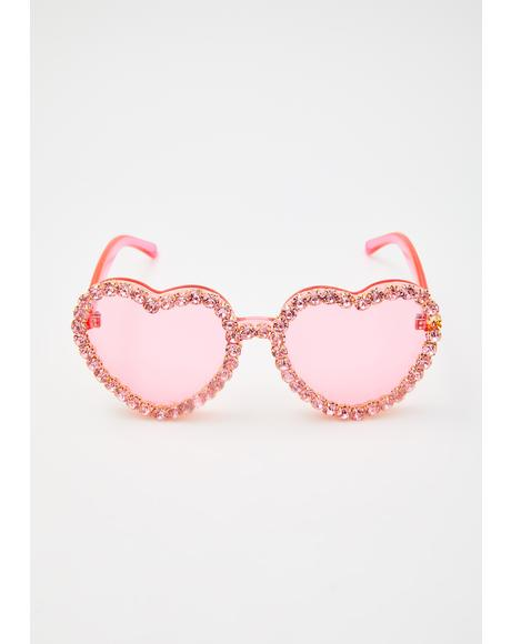 Lover's Paradise Heart Sunglasses