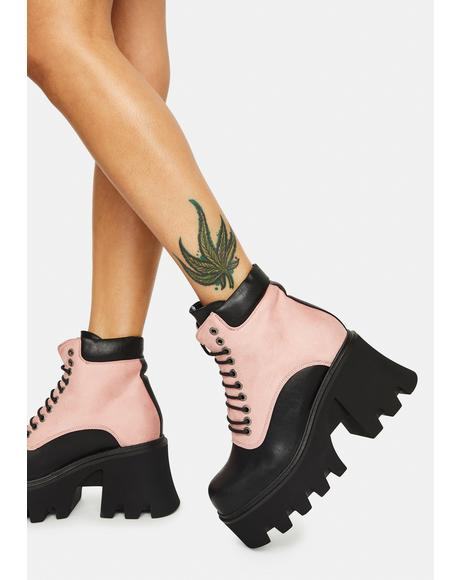 Money Maker Babe Lace Up Boots