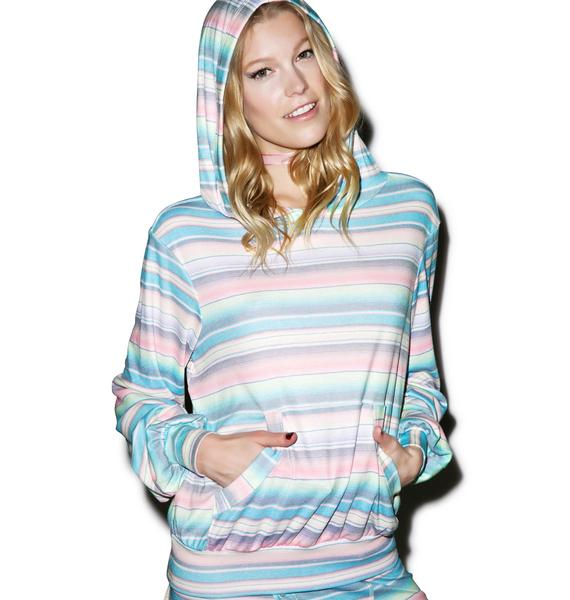 Wildfox Couture Pastel Blanket Malibu Pullover