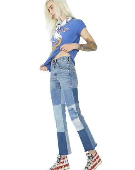 Orange Tab 517 Cropped Boot Cut Jeans