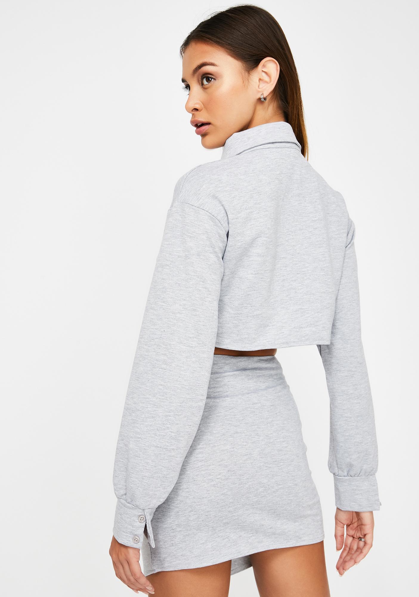 ZEMETA Rocky Gray Skirt Set