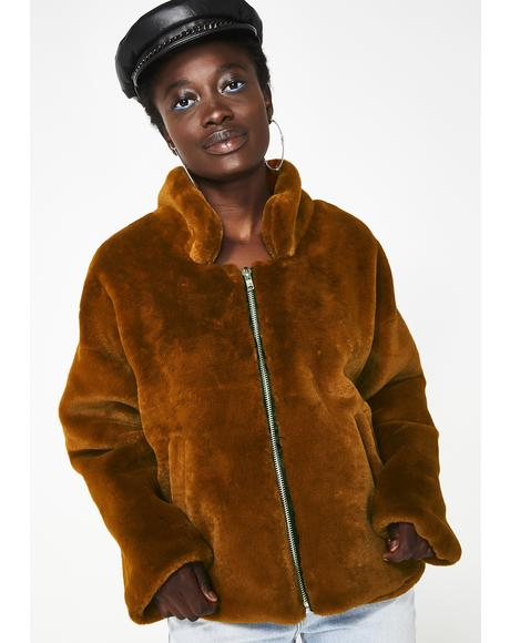Big Deal Faux Fur Jacket