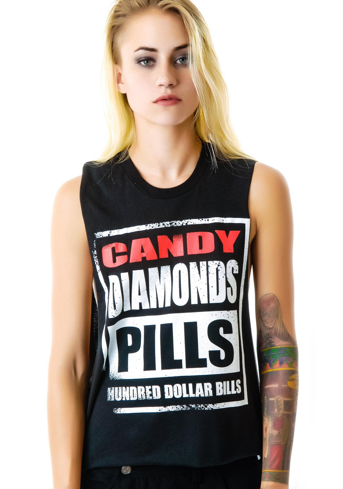 Candy Diamonds Pills BF Tee