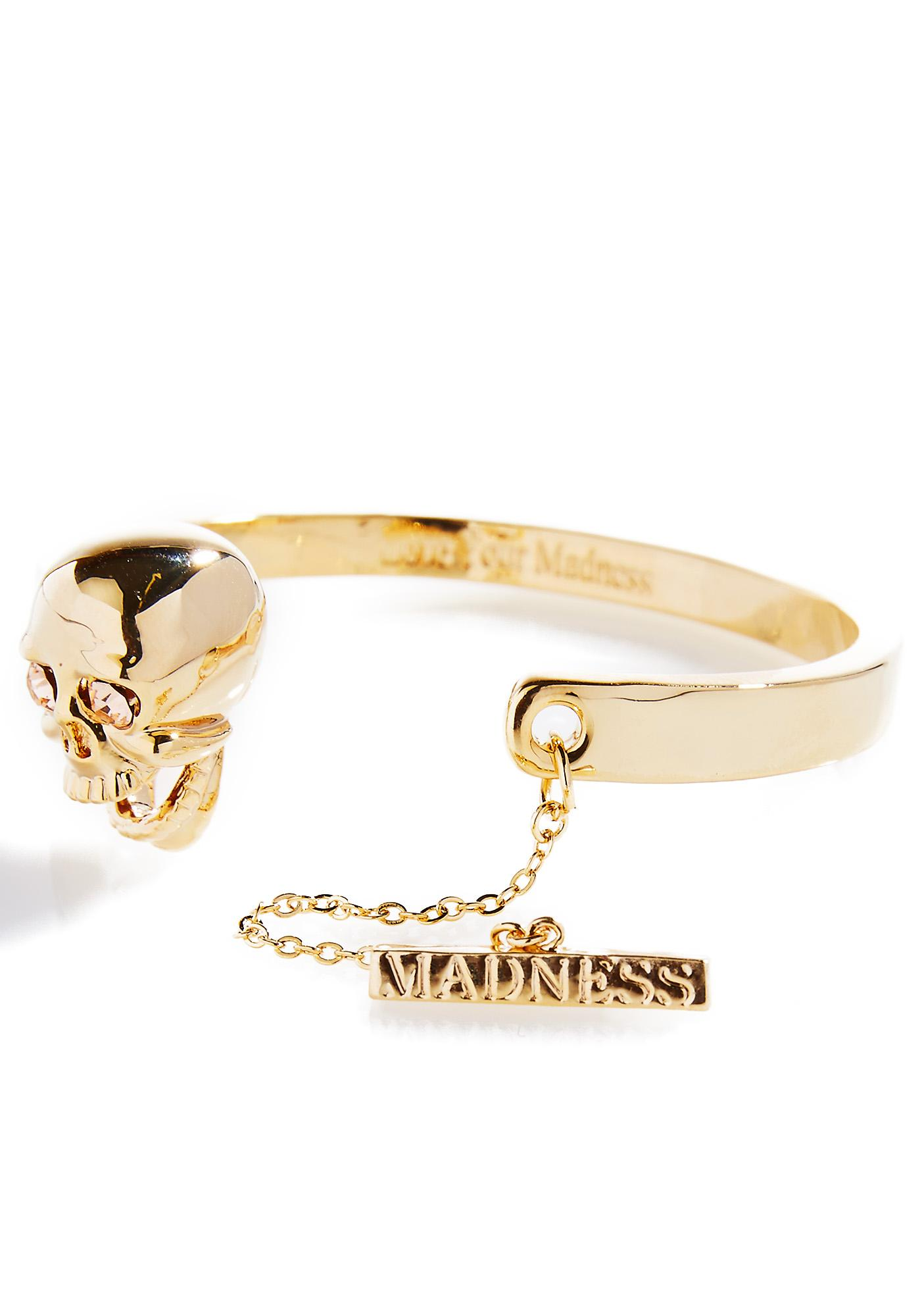 Love And Madness Skull Bracelet