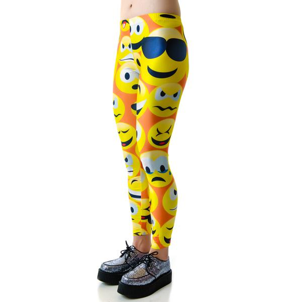 Why So Emoji Emoticon Leggings